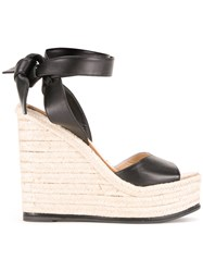 Paul Andrew Ankle Length Braided Sandals Black
