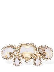 Rosantica Cuori Crystal Hair Barrette Gold
