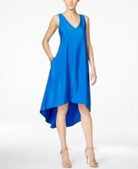 Inc International Concepts Sleeveless High Low Trapeze Dress Only At Macy's Egyptian Blue