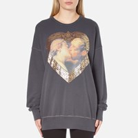 Vivienne Westwood Anglomania Women's Hercules Kiss Gusset Sweater Grey