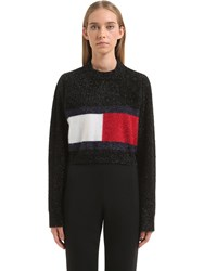 Tommy Hilfiger Collection Flag Brushed Lurex Knit Sweater