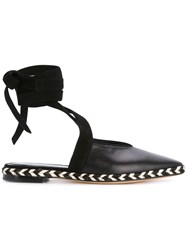 J.W.Anderson Jw Anderson Wrap Around Mules Black