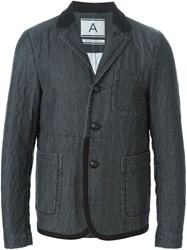Andrea Pompilio Quilted Blazer Black