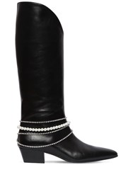 Magda Butrym 30Mm Mexico Embellished Leather Boots Black