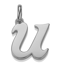 Monica Vinader Sterling Silver Lower Case U Pendant Female