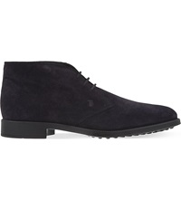 Tod's Suede Chukka Boots Navy