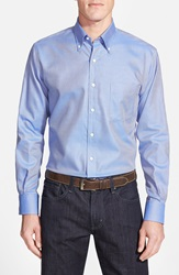 Peter Millar 'Nanoluxe' Regular Fit Wrinkle Free Sport Shirt Blue