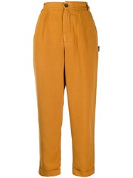 Ecoalf High Rise Trousers Yellow