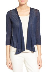 Nic Zoe Women's Four Way Convertible Long Sleeve Cardigan Indigo