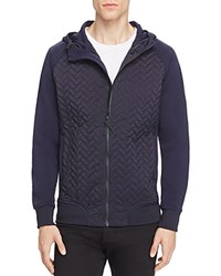 Scotch And Soda Quilted Panel Hooded Jacket Night