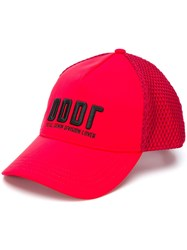 Diesel Neoprene Baseball Cap Red