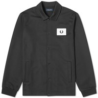 Fred Perry Acid Bright Coach Jacket Black