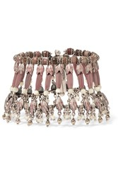 Etro Silver Plated Rhodonite And Mother Of Pearl Bracelet