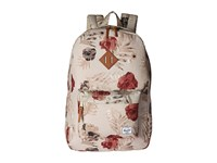 Herschel Heritage Pelican Floria Tan Leather Backpack Bags Khaki