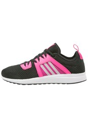 Adidas Performance Durama Cushioned Running Shoes Core Black White Shock Pink