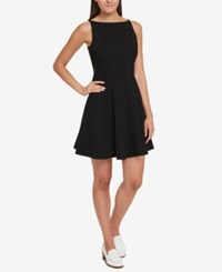 Tommy Hilfiger Fit And Flare Dress Created For Macy's Black