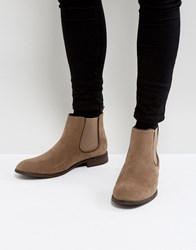 New Look Faux Suede Chelsea Boots In Stone