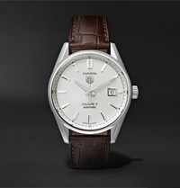 Tag Heuer Carrera Automatic 39Mm Steel And Alligator Watch Ref. No. War211b.Fc6181 White