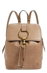 Frye Small Ilana Leather Backpack Grey