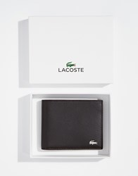 Lacoste Leather Billfold Wallet Brown