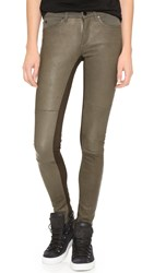 Superfine Flash Friend Leather Jeans Green
