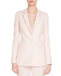 Givenchy Fitted Single Button Blazer Light Pink