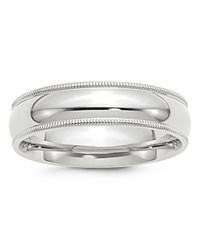 Bloomingdale's 6Mm Milgrain Comfort Fit Band In 14K White Gold 100 Exclusive