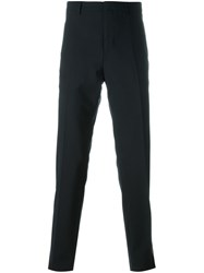 Lanvin Contrasted Stripe Tailored Trousers Blue
