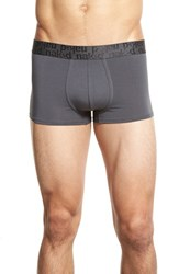 Men's Naked 'Signature' Modal And Cotton Trunks Charcoal