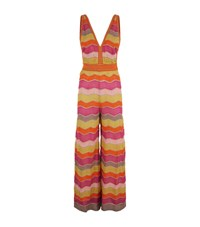 M Missoni Zig Zag Lurex Jumpsuit Female Multi