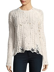 Zadig And Voltaire Crewneck Merino Wool Sweater Ice