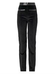 Atto Leather Trimmed Corduroy Trousers