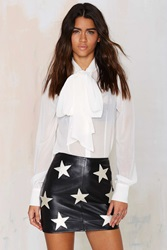 Nasty Gal After Party Vintage Patch Perfect Leather Skirt