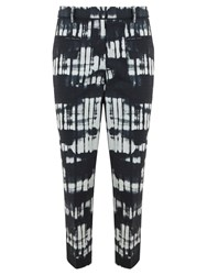 Mint Velvet Nina Print Cotton Capri Trousers Multi