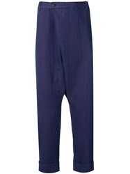 Gabriele Pasini Drop Crotch Trousers Blue