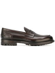 Doucal's Classic Penny Loafers Brown