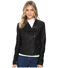 Marc New York Felix 19 Feather Leather Jacket Black Women's Jacket