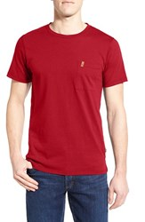 Fjall Raven Men's Fj Llr Ven 'Ovik' Organic Cotton T Shirt Deep Red