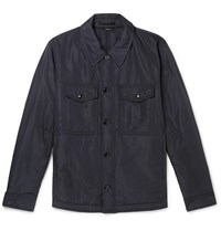 Tom Ford Shell Field Jacket Blue