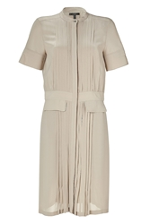 Belstaff Light Khaki Silk Seaford Shirtdress