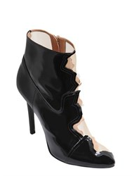 Maison Martin Margiela 105Mm Patent Leather And Mesh Ankle Boots