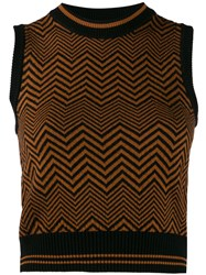 Versace Chevron Sleeveless Knitted Top 60