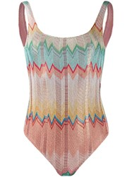 Missoni Zigzag Swimsuit Neutrals