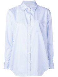 Equipment Pinstripe Shirt Blue