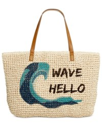 Styleandco. Style Co. Wave Straw Beach Bag Tote Only At Macy's Wave Hello