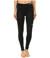 Nike Pro Cool Tights Black Black White Women's Workout