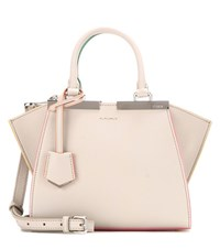 Fendi 3Jours Mini Leather Tote Grey