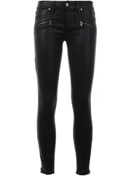 Paige Waxed Effect Skinny Jeans Black