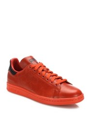 Raf Simons Perforated Leather Shoes Orange
