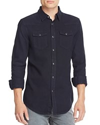 Blk Dnm Denim Regular Fit Snap Front Shirt Black Patch